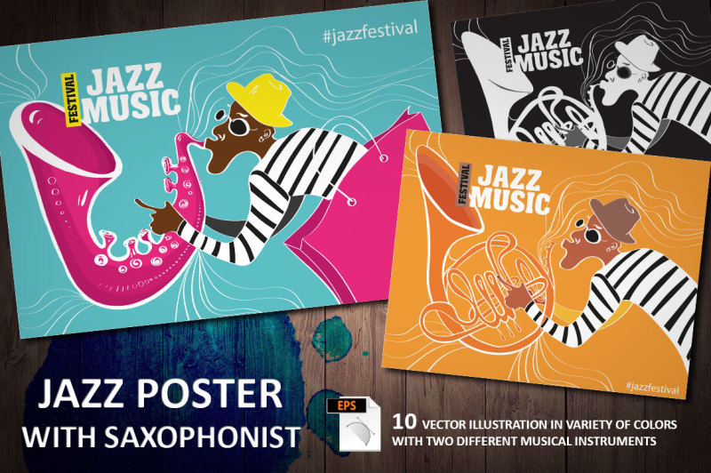 jazz-poster-with-saxophonist