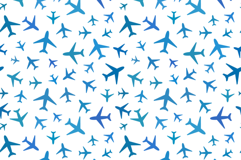blue-planes-icons-on-white-seamless-pattern