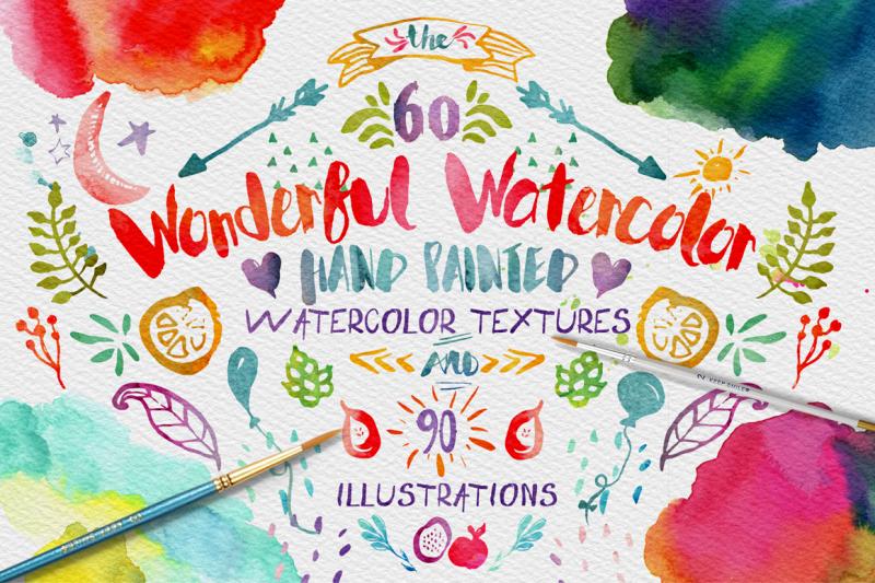 wonderful-watercolor-digital-graphic-design-kit