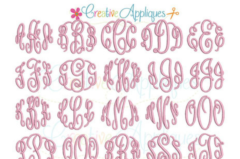 elegant-circle-monogram-embroidery-font