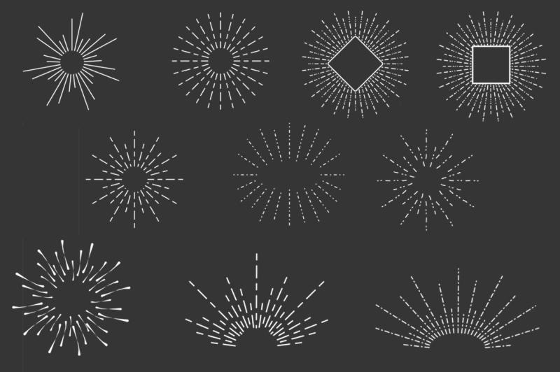 15-vector-sunbursts