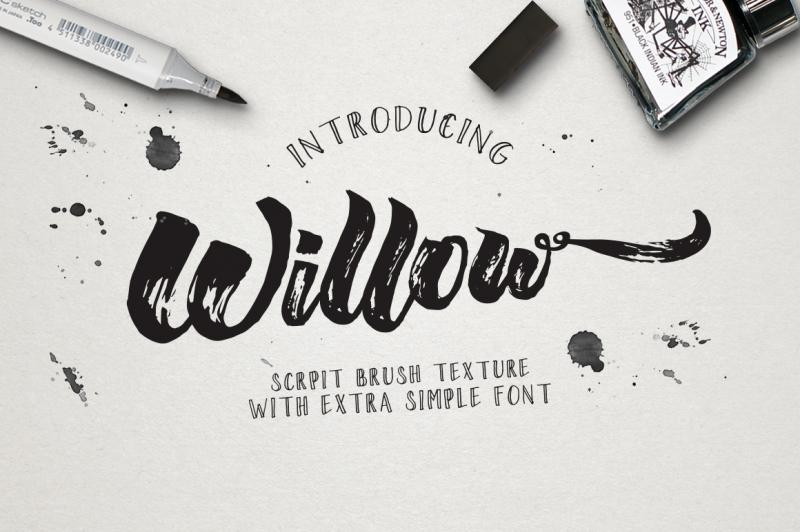 willow-brush-texture