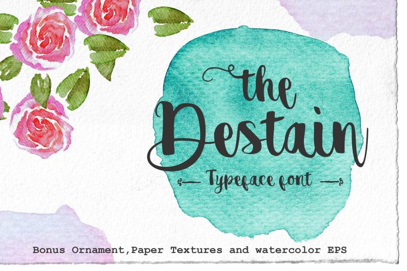 destain-typeface