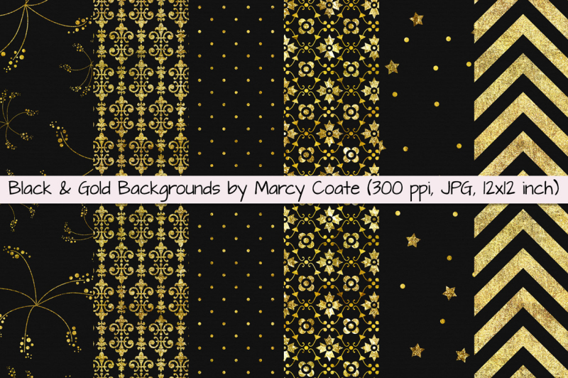 black-and-gold-digital-papers