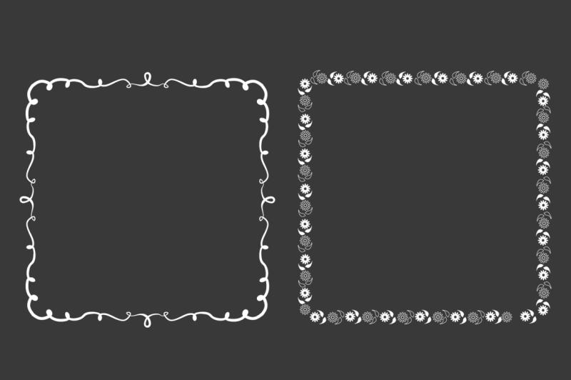 square-decorative-frames-vector