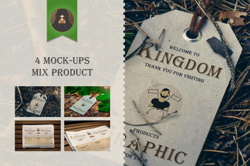 Free Mock-Up Mix product Vol.1 (PSD Mockups)
