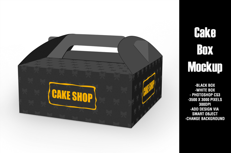 Free Cake Box Mockup (PSD Mockups)