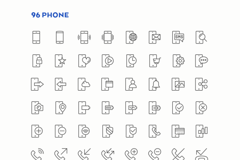communication-line-icons