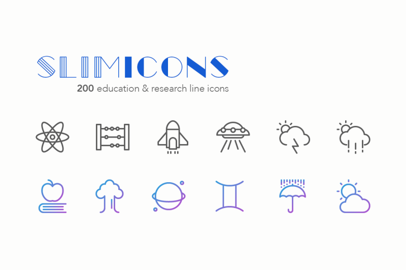 education-and-research-line-icons
