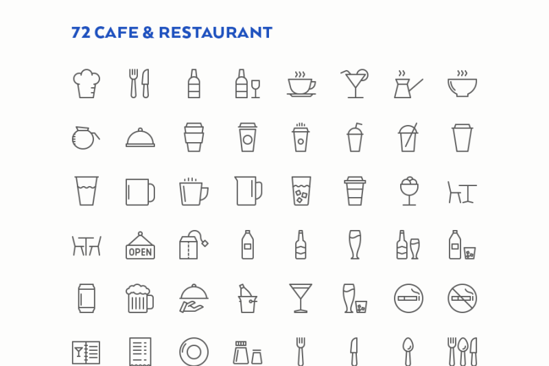food-and-drink-line-icons