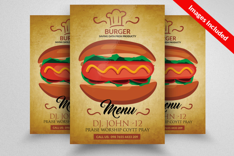 fast-food-burger-flyer
