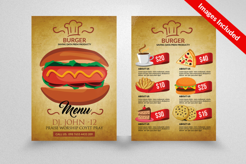 double-sided-fast-food-burger-flyer