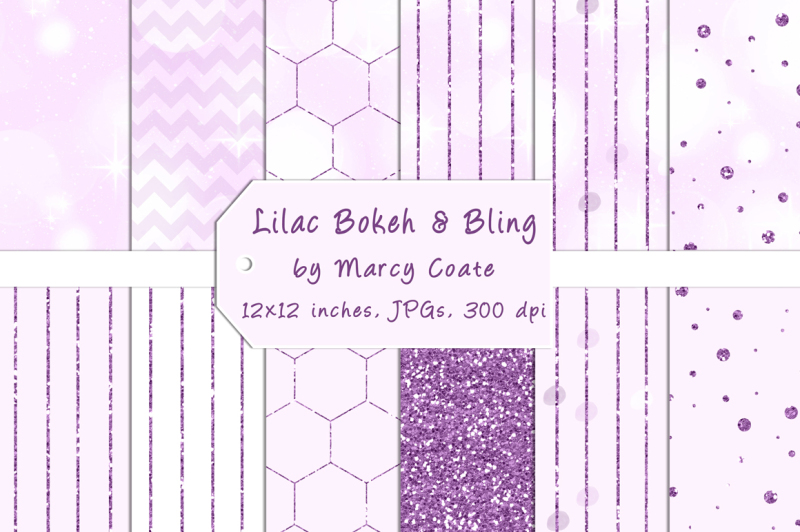 lilac-bokeh-and-purple-glitter-papers