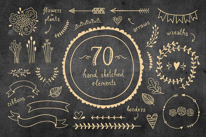 70-hand-sketched-elements
