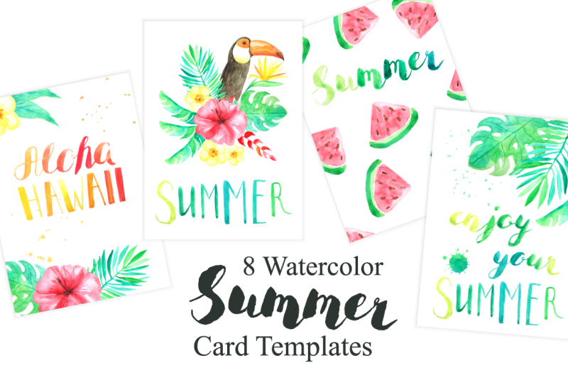 tropical-card-templates-set