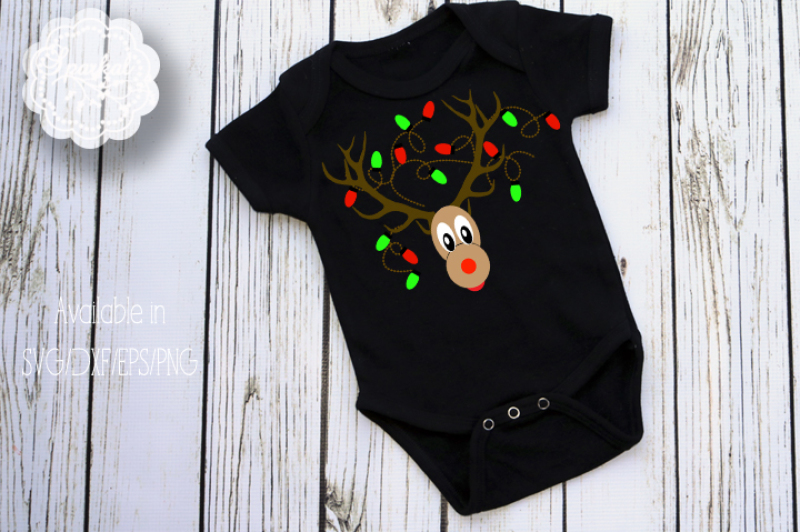 Rudolph Christmas Reindeer Svg Eps Dxf Png By Sparkal Designs