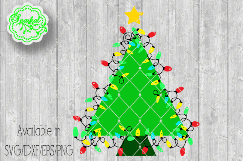 christmas-tree-with-lights-svg-eps-dxf-png
