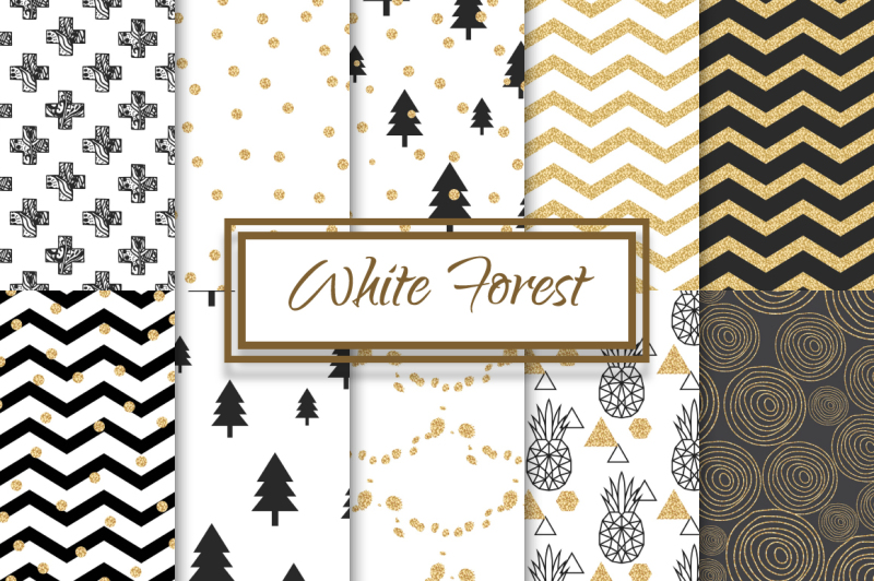 abstract-white-forest-patterns