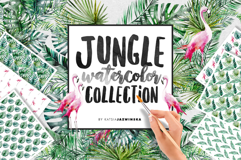 jungle-watercolor-collection