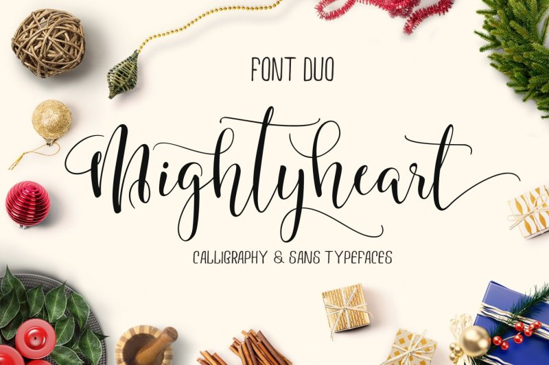 mighty-heart-font-duo