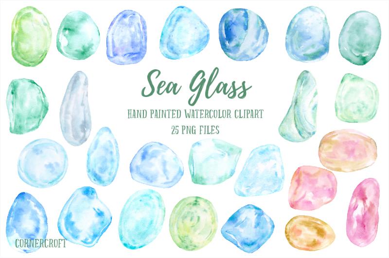 watercolor-clip-art-sea-glass