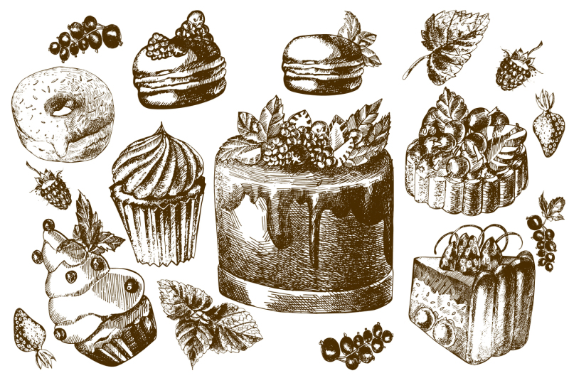 hand-drawing-cake-and-berries