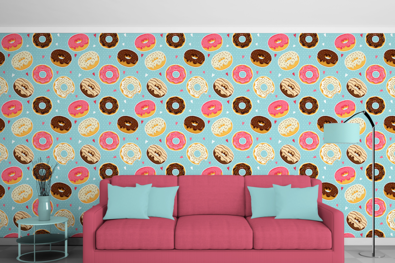 cute-donuts-with-colorful-glazing