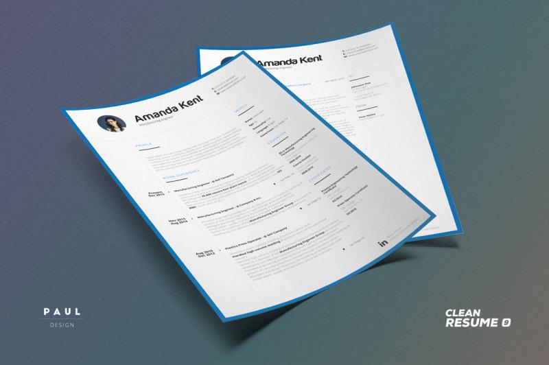Clean Resume Cv Volume 9