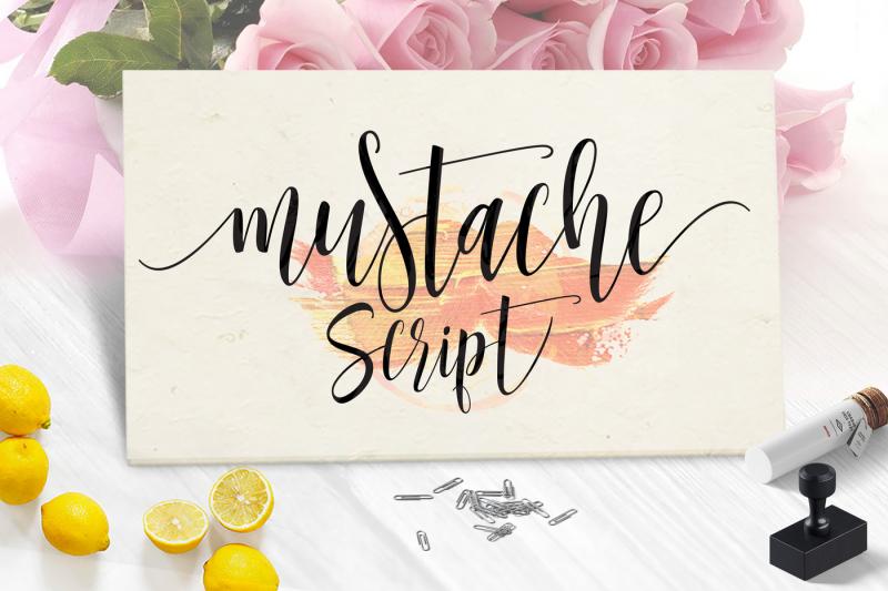 mustache-script-font-trio-extras-new-update