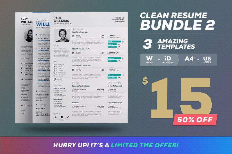 clean-resume-cv-bundle-edition-vol-2