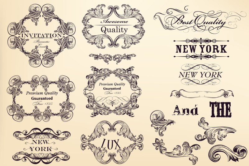 premium-collection-of-vintage-flourishes