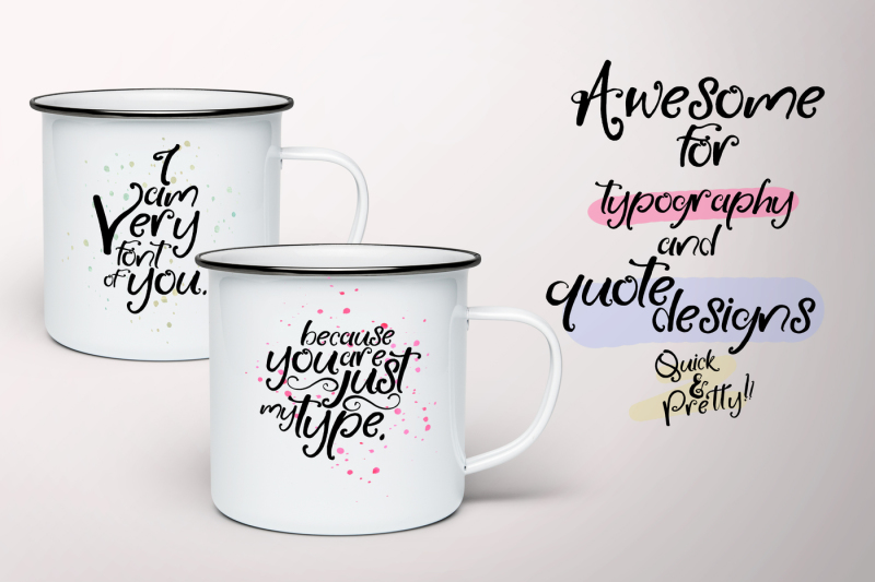 little-raspberry-typeface-extras