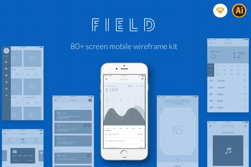 field-wireframe-kit