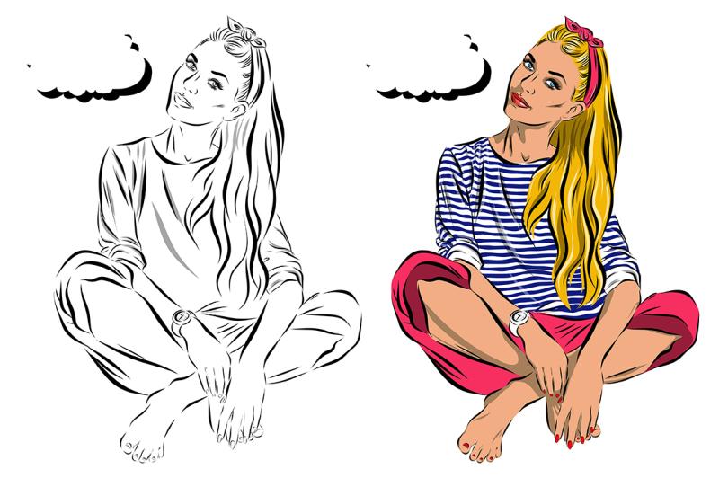 pop-art-women-set-comics