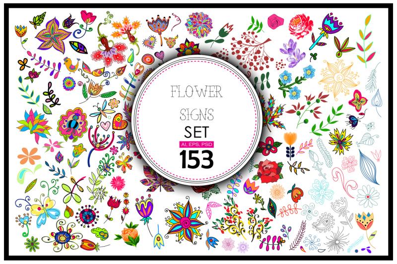 153-vector-floral-signs-set-bonus