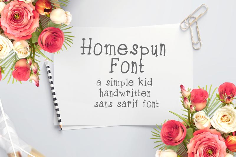 home-spun-font
