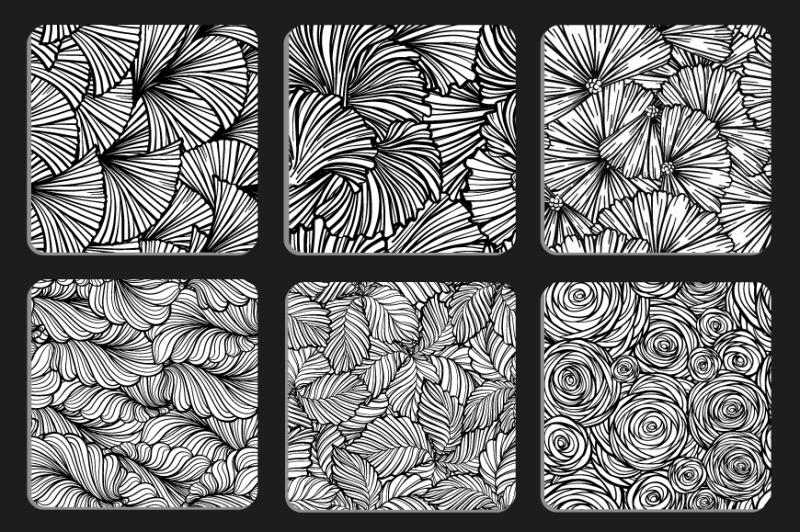 floral-patterns-set