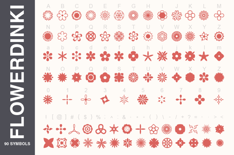 symbols-font-collection-450-elements