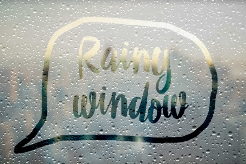 Free Rainy Window Effect Smart Layers (PSD Mockups)