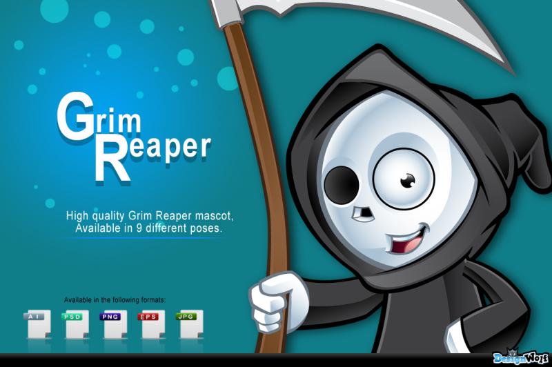 grim-reaper-mascot-in-9-poses