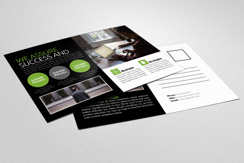 business-corporate-agency-postcard