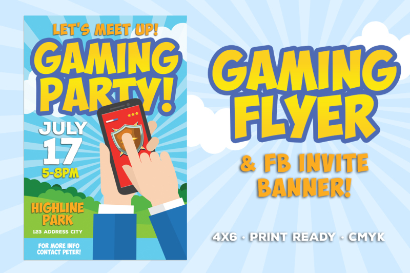 gaming-party-flyer