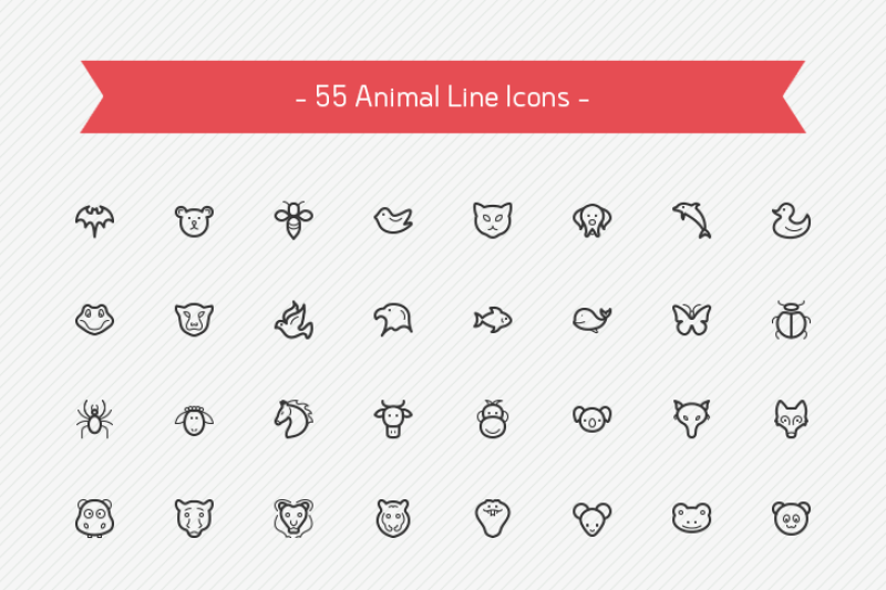 animal-line-icons-sharpicons