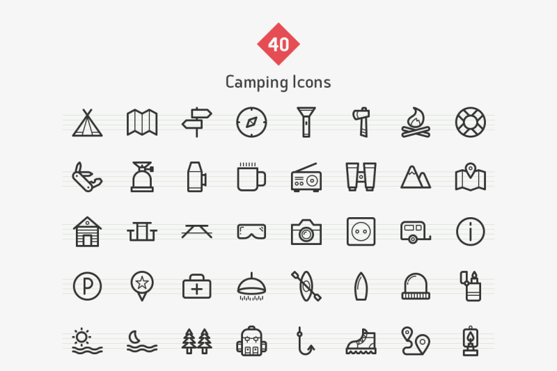 camping-line-icons-sharpicons