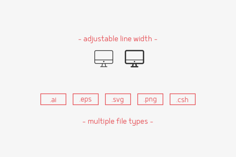 devices-and-hardware-line-icons