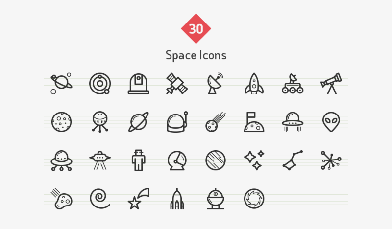 space-line-icons-sharpicons