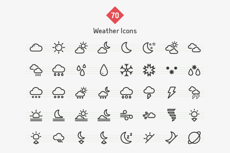 weather-line-icons-sharpicons