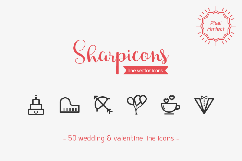wedding-and-valentine-line-icons