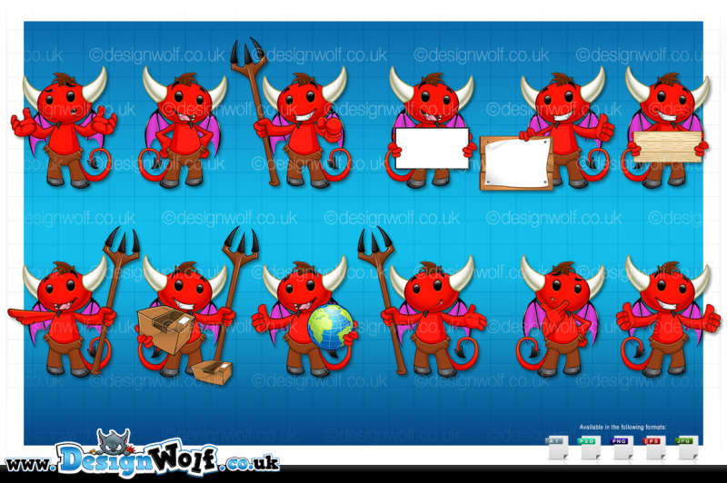 devil-character-in-12-poses