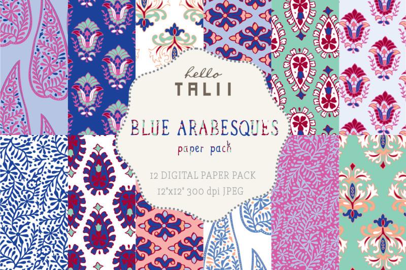 blue-arabesques